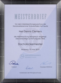 Meisterbrief 2013